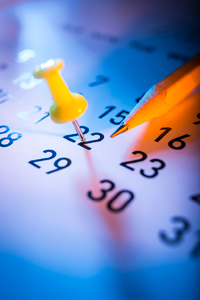 Make a note on the calendar of important events, so that they are not forgotten