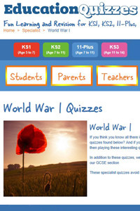 World War I quizzes