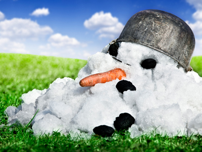 A melted snowman