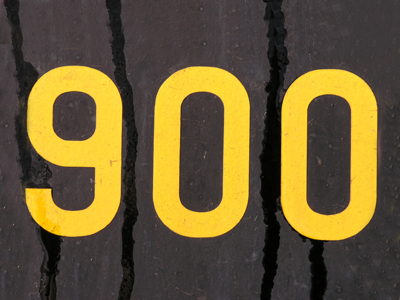 The number 900