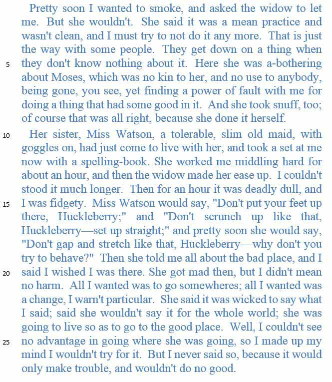 the-adventures-of-huckleberry-finn-passage
