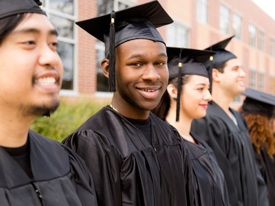 Group of students graduating from college