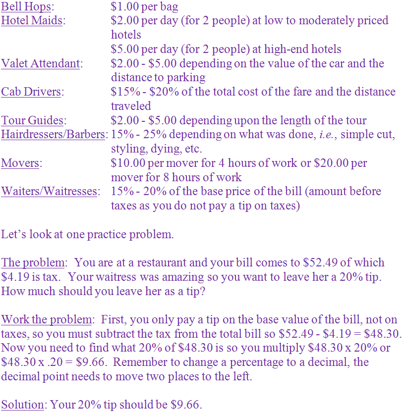 Grades 6, 7 and 8 | Math | Middle School | Consumer Math ...