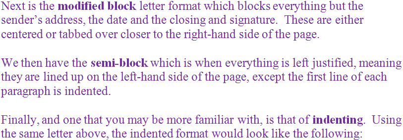 Formal Letter Example For Class 8