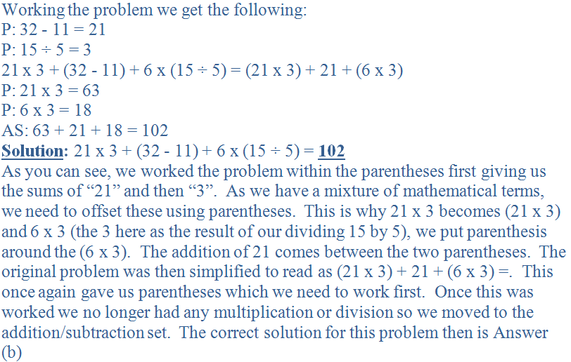Working the problem we get the following:<br />