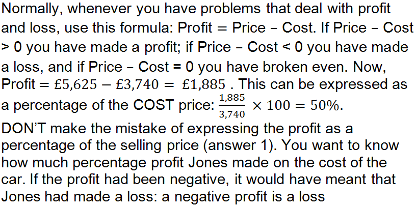GCSE money profit and loss problems understanding finances – Percentage Problems Worksheet
