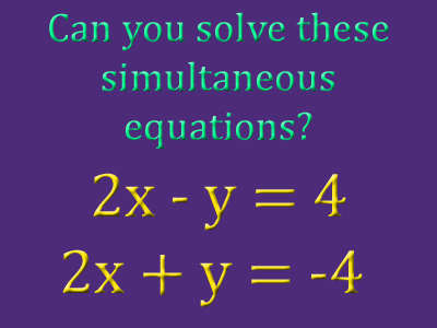 Simultaneous Equations 1