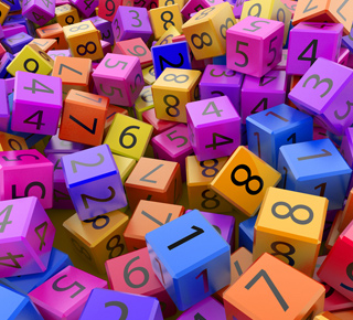 Colourful cubes with numbers on every surface
