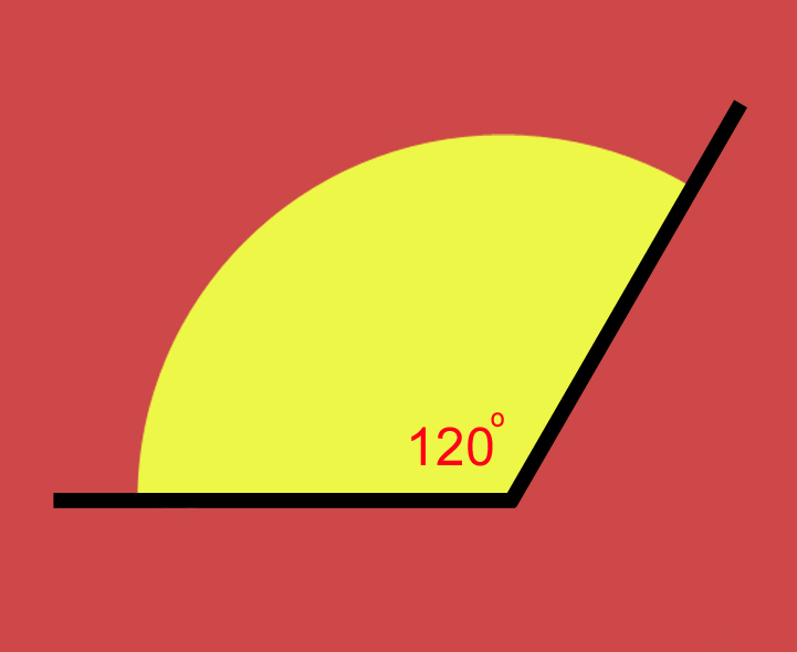 how to draw obtuse angle