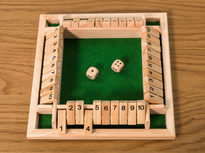 Shut The Box Four Players Game