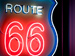 A sign for route 66