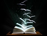 Birds emerging from a book - let your imagination fly!