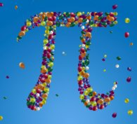 The symbol for 'Pi' made of balloons