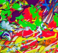 Madly colourful abstract art